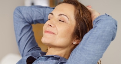 Relaxing patient after sedation dentistry visit